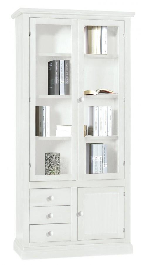 Βιβλιοθήκη Ξύλινη 3 συρτάρια Country Style 90x41x186 εκ.