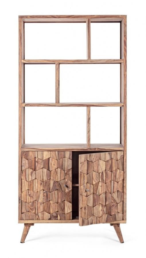 Βιβλιοθήκη από ξύλο KANT με 2 πόρτες 89.5x40x192 εκ.