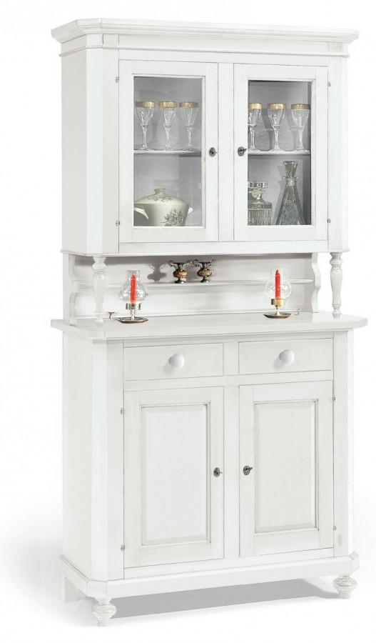 Βιτρίνα Ξύλινη με 2 πόρτες κολονάκια Country Style