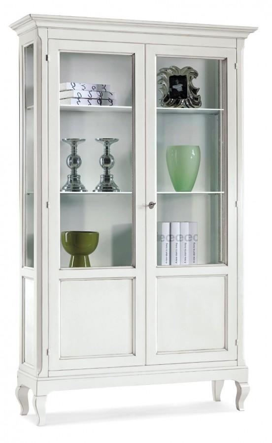 Βιτρίνα Ξύλινη με 2 πόρτες Country Style 126x44x207εκ