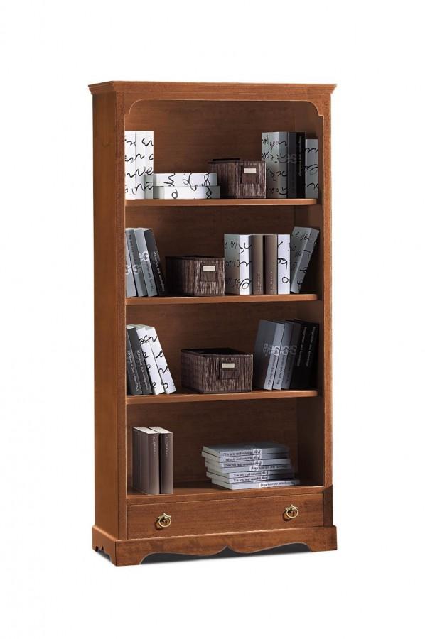 Βιβλιοθήκη Ξύλινη  1 συρτάρι   Classical Collection 94x36x189 εκ.