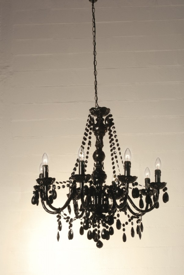 8 φώτα πολυέλαιος JEWEL BLACK