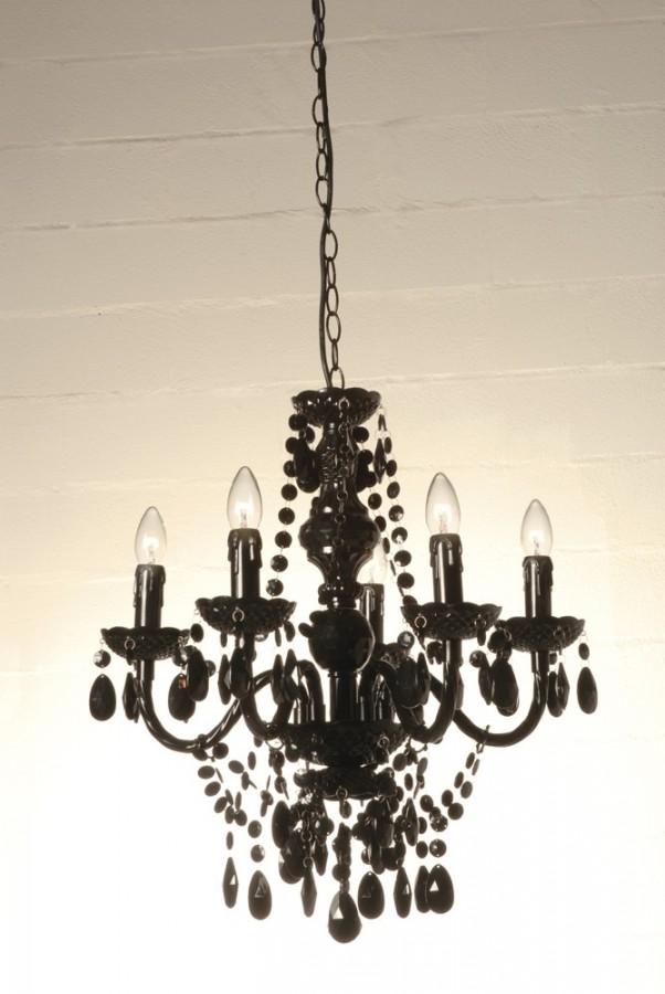 5 φώτα πολυέλαιος JEWEL BLACK