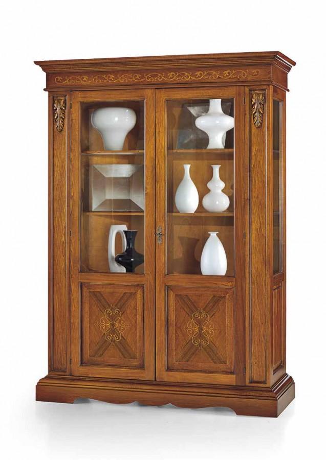 Βιτρίνα Ξύλινη με 2 πόρτες Decor Classical Collection 155x48x210 εκ.