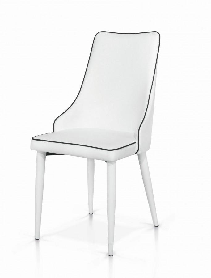 Καρέκλα Bianco Stripes Modern Collection 45x42x95 εκ.
