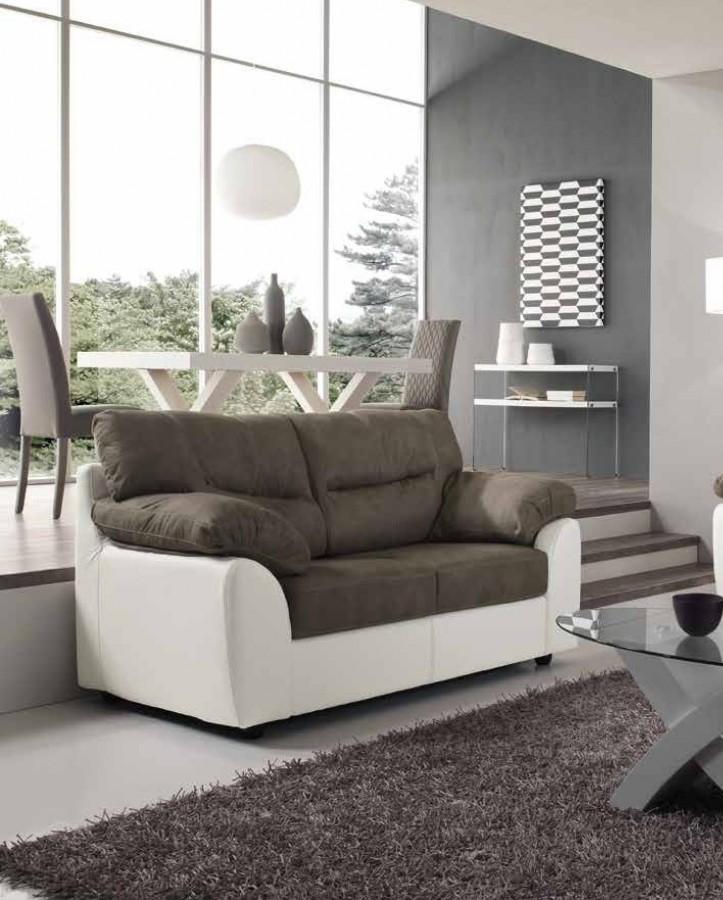 Καναπές Τριθέσιος ALBA με οικολογικό δέρμα 210x90x98 εκ.