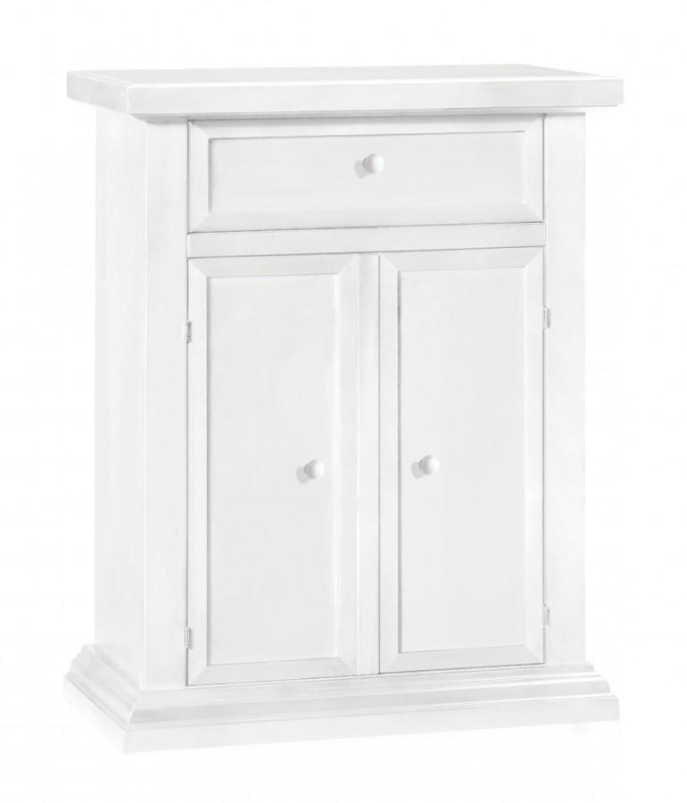 Παπουτσοθήκη Ξύλινη Classic Design με 2 πόρτες και 1 συρτάρι 64x32x80 εκ.
