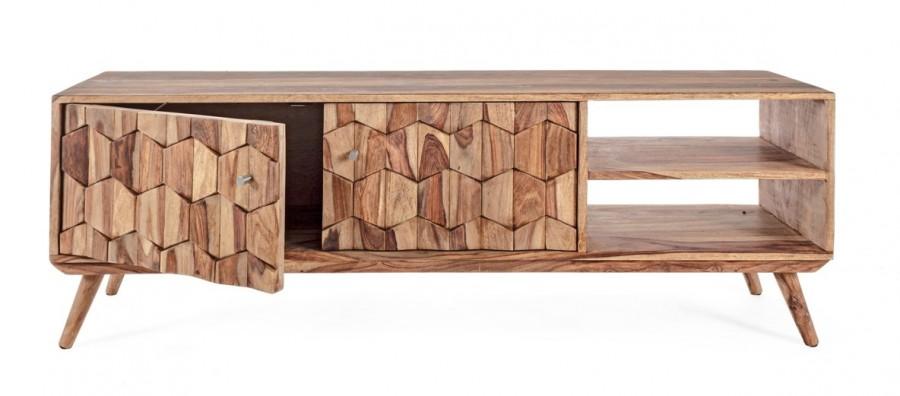 Έπιπλο τηλεόρασης από ξύλο KANT με 2 πόρτες 145x35x49 εκ.
