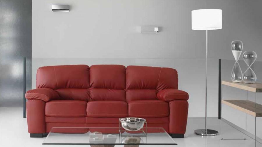 Καναπές Τριθέσιος TERRY με οικολογικό δέρμα 210x90x90 εκ.