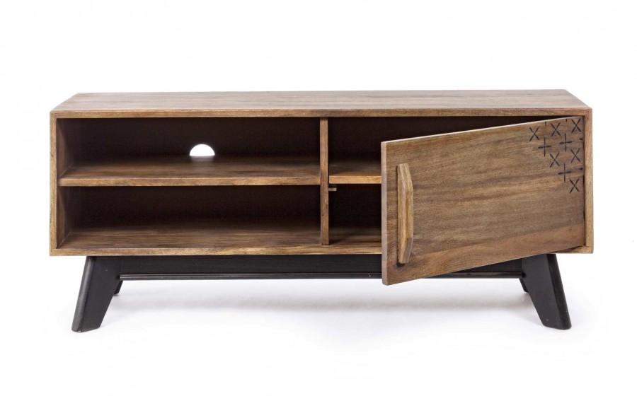 Έπιπλο τηλεόρασης από ξύλο EMIRA με 1 πόρτα 120x40x50 εκ.
