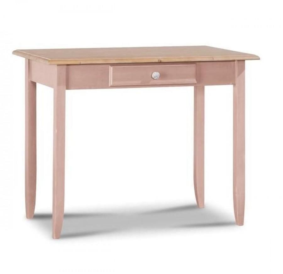 Παιδικό Γραφείο μασίφ ξύλινο PINK σε ροζ χρωματισμό με 1 συρτάρι 99x61x80 εκ.