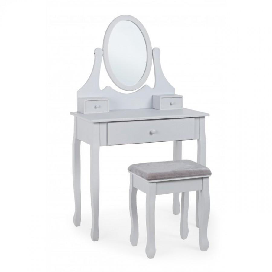 Τουαλέτα κρεβατοκάμαρας CINDERELLA με καθρέφτη 80x40x137 εκ.