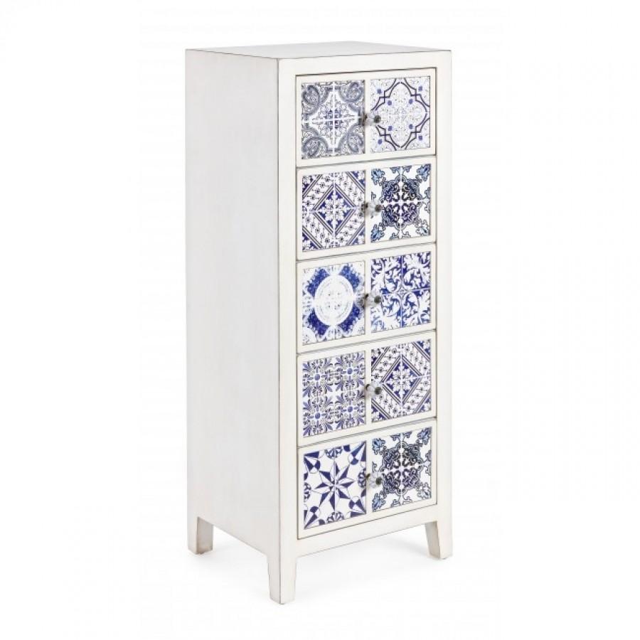Συρταριέρα DEMETRA με 5 συρτάρια 43x33x108 εκ.