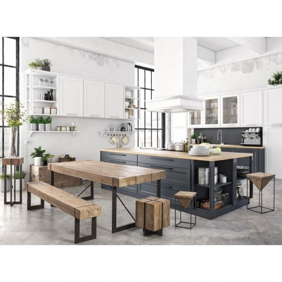 Τραπέζι GARRETT από ξύλο έλατο 200x90x77 εκ.