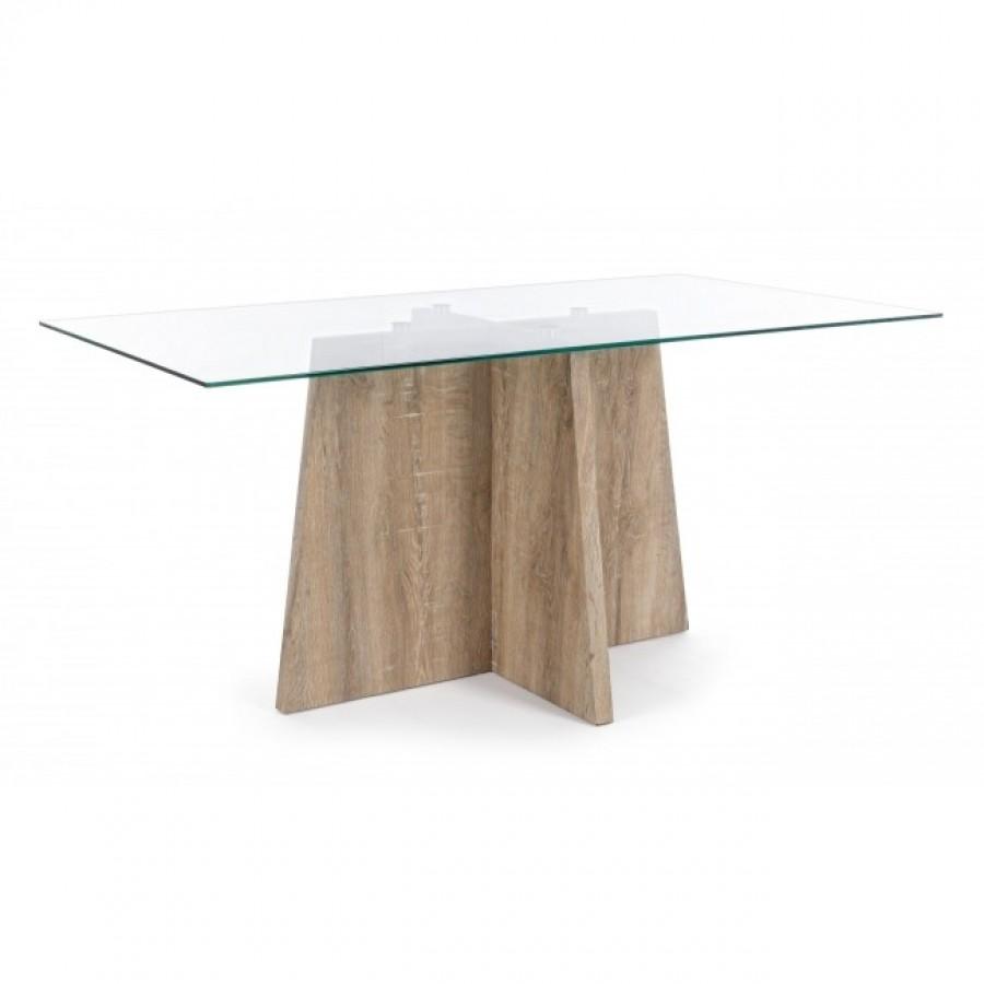 Τραπέζι KENYA από  γυαλί 160x90x75 εκ.