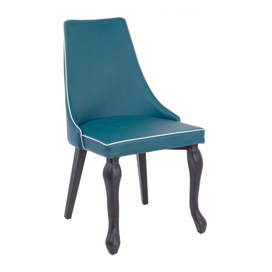 Καρέκλα από τεχνόδερμα(PU) και μεταλλική δομή VITTORIA BLUE 46x47x88 εκ.