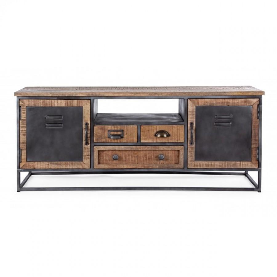 Έπιπλο τηλεόρασης RUPERT με 2 πόρτες και 3 συρτάρια 125x40x50 εκ.