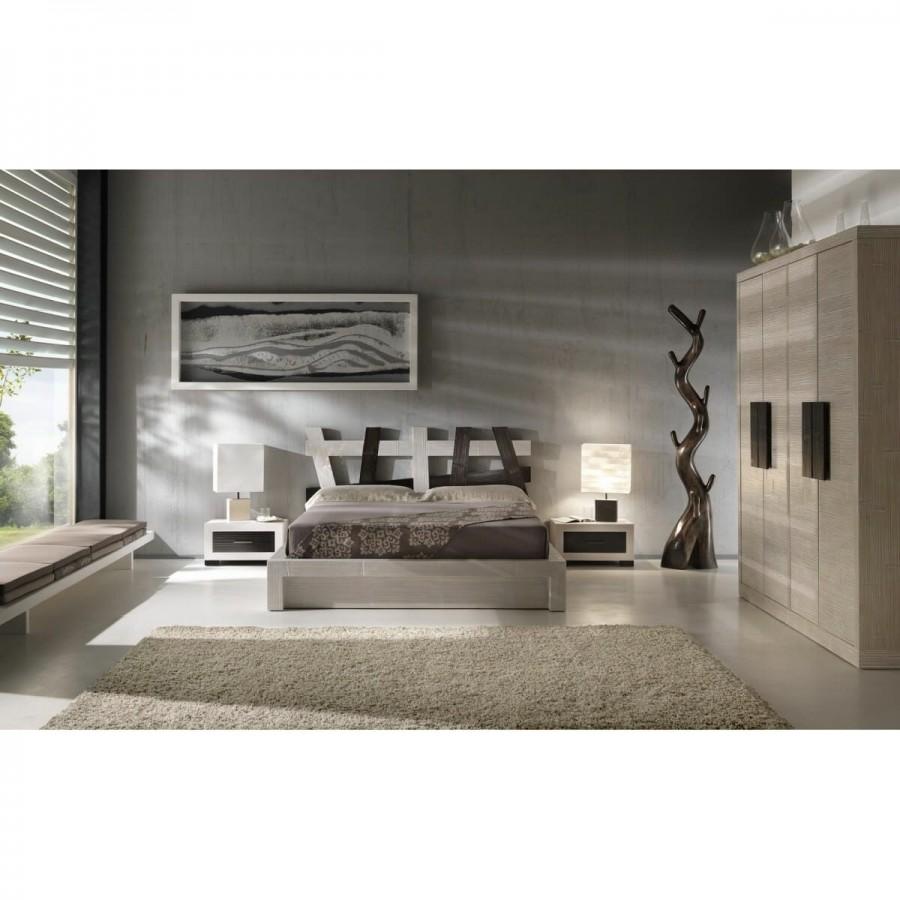 Κρεβάτι ESSENTIAL από ξύλο bamboo σε scratch white χρωματισμό