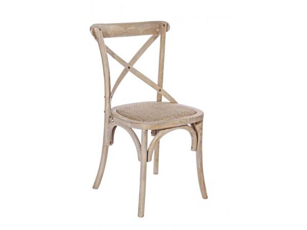 Καρέκλα  CROSS NAT.GREY 46x42x87 εκ.
