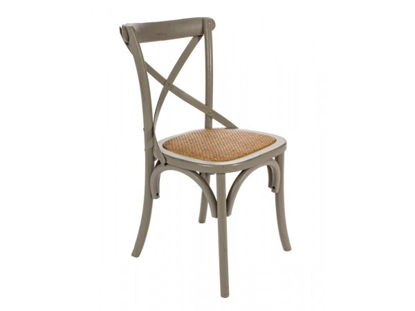 Καρέκλα  CROSS DARK GREY 46x42x87 εκ.
