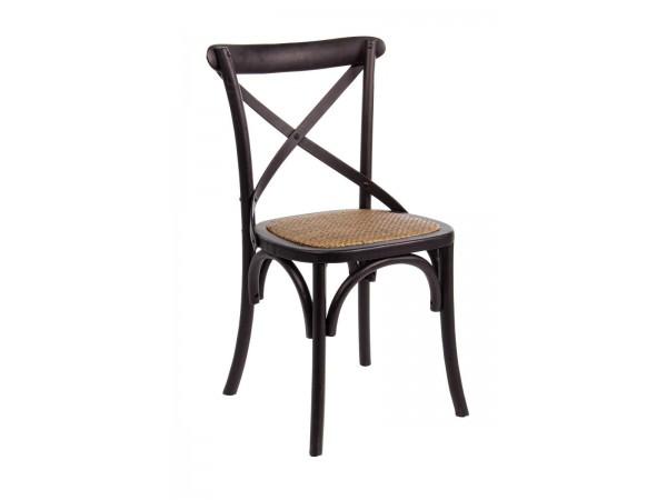 Καρέκλα  CROSS BLACK 46x42x87 εκ.