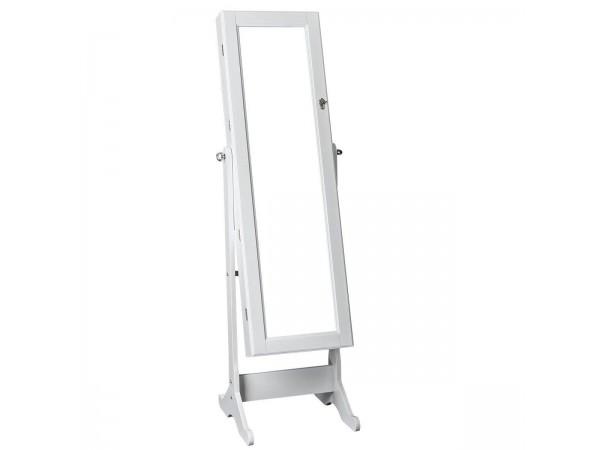 Καθρέπτης - κοσμηματοθήκη Λευκή λάκα ματ