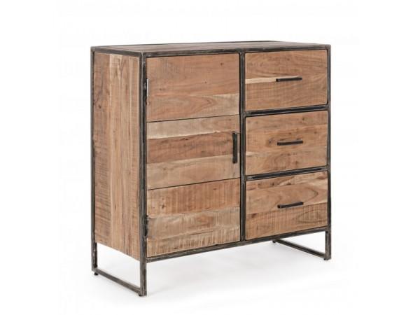 Μπουφές ELMER από ξύλο acacia με 3 συρτάρια και 1 πόρτα 90x40x90 εκ.