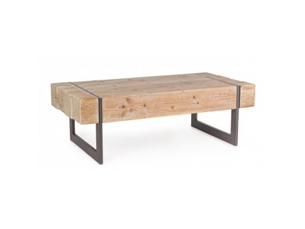 Τραπεζάκι σαλονιού GARRETT από ξύλο έλατο 120x60x40 εκ.
