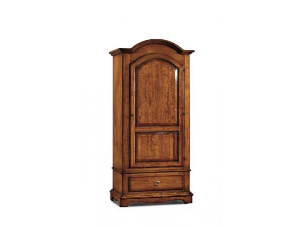 Ντουλάπα Ανοιγόμενη Ξύλινη 1 πόρτα και 1 συρτάρι Classical Collection 96x56x196 εκ.