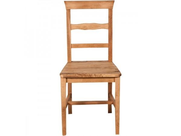 Καρέκλα Μασίφ Ξύλινη σε φυσική απόχρωση 45x43x92 εκ.