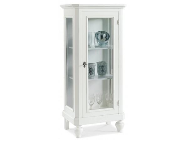 Βιτρίνα Ξύλινη με 1 πόρτα Country Collection 60x40x131 εκ.
