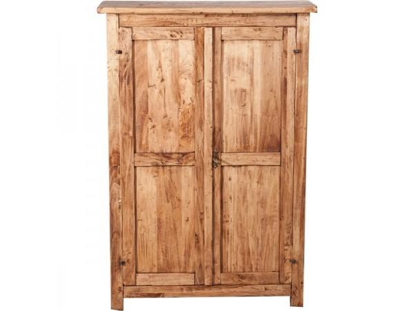 Παπουτσοθήκη Μασίφ Ξύλινη σε φυσική απόχρωση με 2 πόρτες και 2 ράφια 68x25x98 εκ.