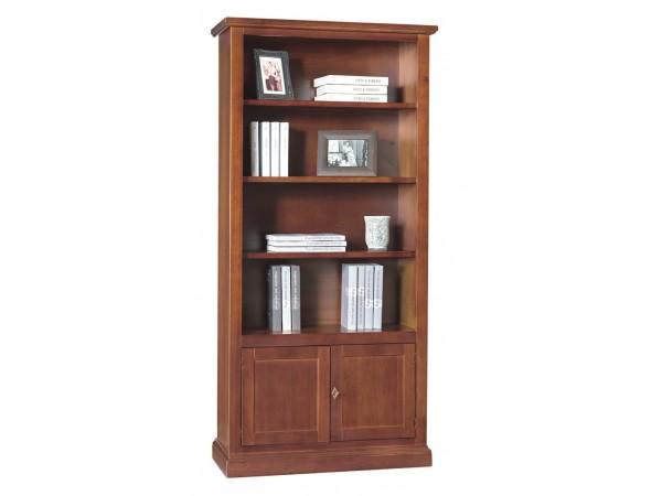 Βιβλιοθήκη Ξύλινη με 2 πόρτες 3 Ράφια Classical Collection 90x41x186 εκ.