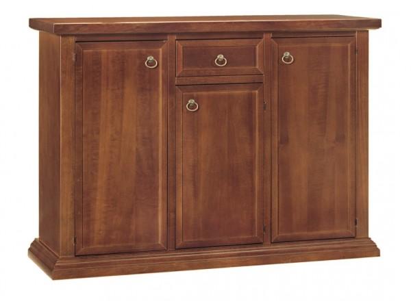 Μπουφές με 3 Πορτές και 1 Συρτάρι Classical Brown Collection Noce 120x40x88 εκ.