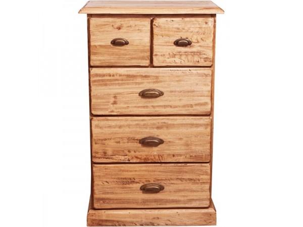 Συρταριέρα Μασίφ Ξύλινη σε φυσική απόχρωση με 3+2 συρτάρια 63x41x100 εκ.