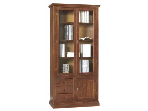 Βιτρίνα Ξύλινη Classical Collection με 3 πόρτες και 3 συρτάρια 90x41x186 εκ.