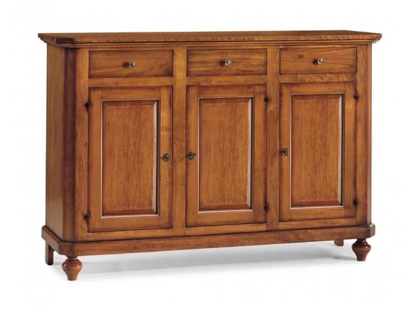 Μπουφές με 3 Πόρτες Classical Brown Collection 150x43x98 εκ.