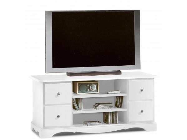 Έπιπλο Τηλεόρασης Ξύλινο Country Style με 4 συρτάρια 117x49x53 εκ.