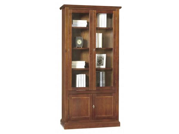 Βιτρίνα Ξύλινη Classical Collection με 4 πόρτες 90x41x186 εκ.