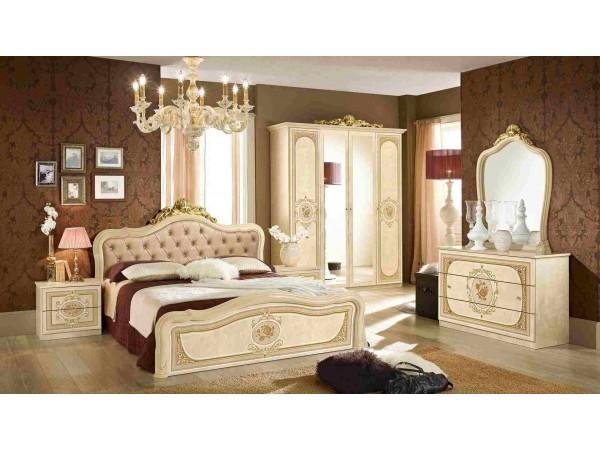 Κλασικό Υπνοδωμάτιο ALICE IVORY με καπιτονέ