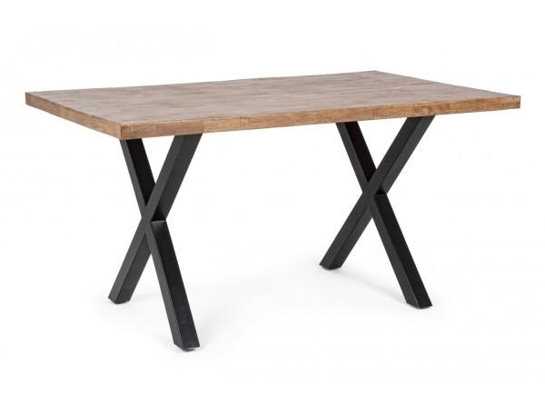 Τραπέζι ARDEN από μασίφ ξύλο Μάνγκο και μεταλλικά πόδια 150x90x77 εκ.
