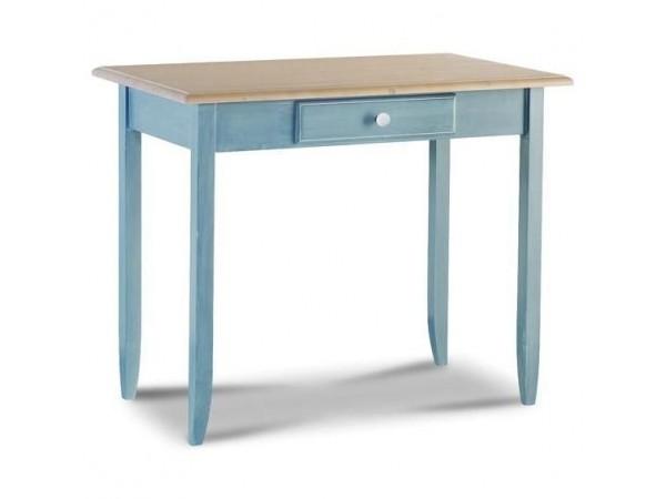 Παιδικό Γραφείο μασίφ ξύλινο AZZURRO σε γαλάζιο χρωματισμό με 1 συρτάρι 99x61x80 εκ.