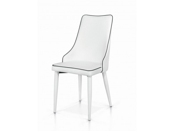 Καρέκλα Bianco Stripes Modern Collection 45x42x95 εκ.