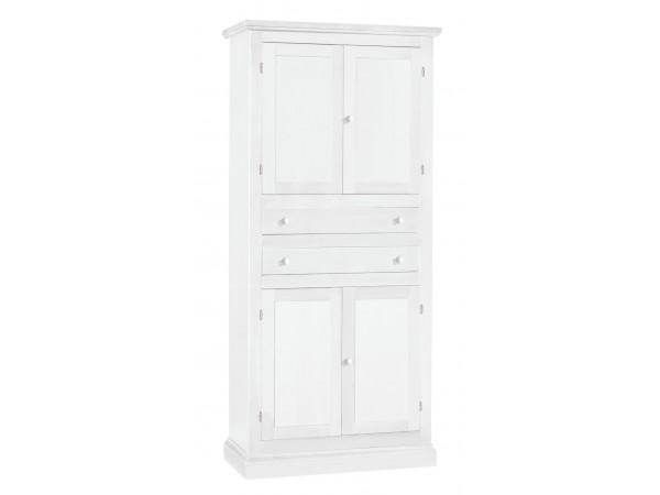 Ντουλάπα Ξύλινη Classic Collection με 4 πόρτες και 2 συρτάρια 80x40x170 εκ.