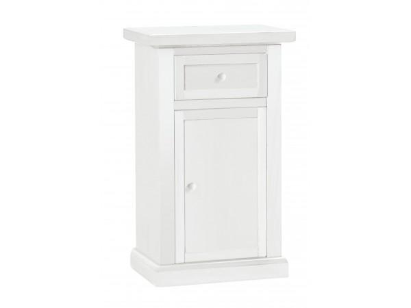 Ντουλάπι Ξύλινο Classic Style με 1 πόρτα και 1 συρτάρι Μήκος 46x31x76 εκ.