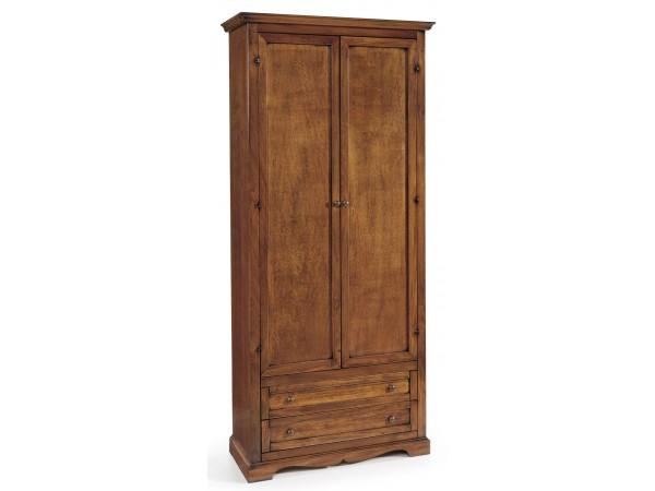 Ντουλάπα Ανοιγόμενη Ξύλινη Classical Collection με 2 πόρτες και 2 συρτάρια 87x40x192 εκ.