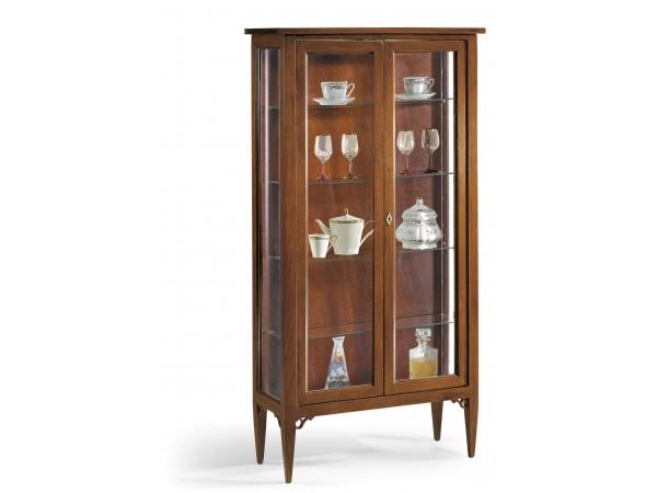 Βιτρίνα Ξύλινη Classical Collection με 2 πόρτες με τζάμι 89x34x170 εκ.