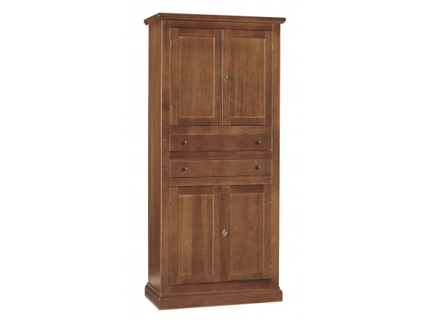 Ντουλάπα Ξύλινη Ανοιγόμενη Classical Collection με 4 πόρτες και 2 συρτάρια 80x40x170 εκ.