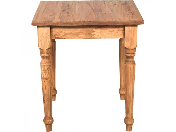Τραπέζι Μασίφ Ξύλινο Country Τετράγωνο σε φυσική απόχρωση 70x70x78 εκ.