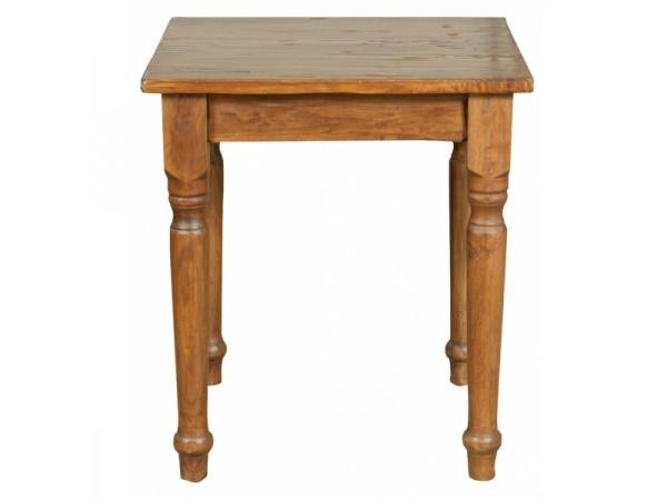 Τραπέζι Μασίφ Ξύλινο Country Τετράγωνο σε απόχρωση καρυδιάς 70x70x78 εκ.